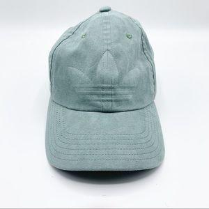 Adidas   Green Suede Strapback Hat
